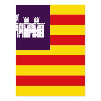 Bandera Islasバレアレス-旗バレアレス諸島 ポストカード