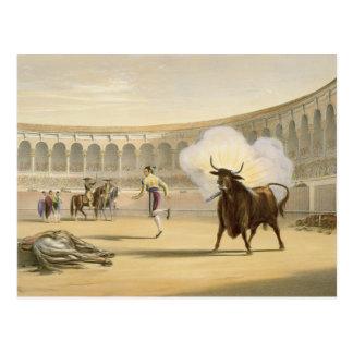 Banderillas de Fuego 1865年(色のlitho) ポストカード