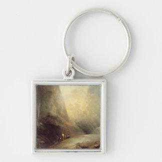 Banditti、c.1780 (cの山の景色の油 キーホルダー