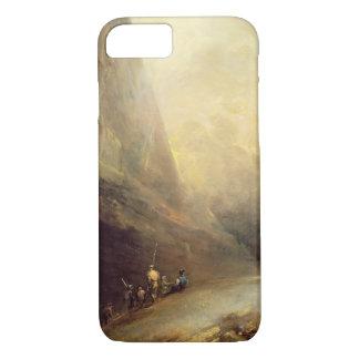 Banditti、c.1780 (cの山の景色の油 iPhone 8/7ケース
