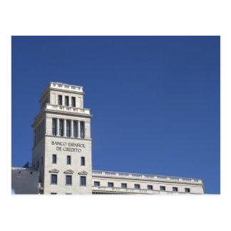 Banesto、Plaça Catalunya、バルセロナ ポストカード