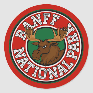 Banffのアメリカヘラジカの円 ラウンドシール
