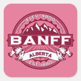 Banffのロゴのハニーサックル スクエアシール