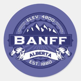 Banffのロゴの真夜中 ラウンドシール