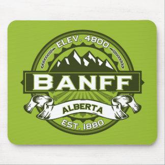 Banffのロゴの緑 マウスパッド