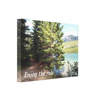 Banffの歩く道のキャンバス キャンバスプリント