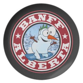 Banffの雪だるまの円 プレート