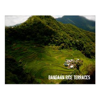 Bangaanの米台地 ポストカード