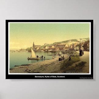 Bannatyne、ビュート、スコットランドのKyles ポスター