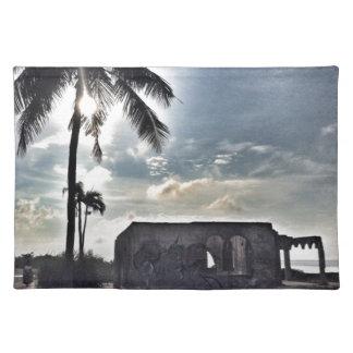 Bantayanの島の台なし ランチョンマット