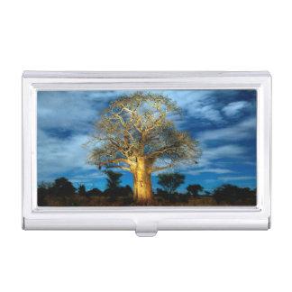 Baobab (バオバブ)の木は月によってつきます 名刺入れ