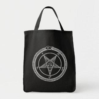 baphometの五芒星のバッグ トートバッグ