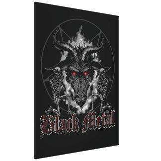 Baphometの五芒星の黒の金属 キャンバスプリント