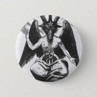 Baphometの円形ボタン 5.7cm 丸型バッジ