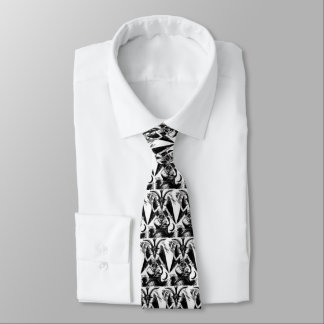 Baphometの白い首のタイ ネクタイ