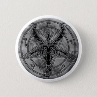 Baphomet大理石のボタン 5.7cm 丸型バッジ