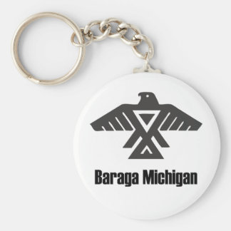 Baragaミシガン州OjibweのネイティブアメリカンKeychain キーホルダー