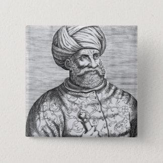 BarbarossaのアンドレThevetからのイラストレーション 5.1cm 正方形バッジ