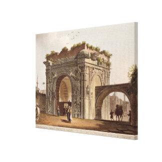Barbaryのトリポリの凱旋門は、24のfをめっきします キャンバスプリント