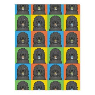 Barbet犬の漫画の破裂音芸術 ポストカード