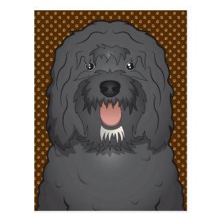 Barbet犬の漫画の足 ポストカード