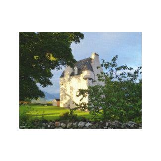 Barcaldineの城、Oban、スコットランド キャンバスプリント
