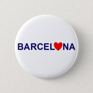 Barcelona love 5.7cm 丸型バッジ