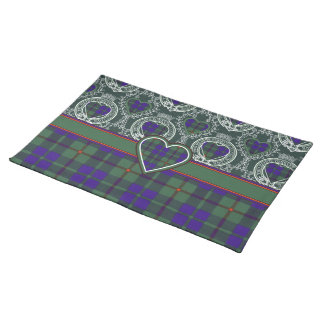 Barcleyの一族の格子縞のスコットランドのキルトのタータンチェック ランチョンマット