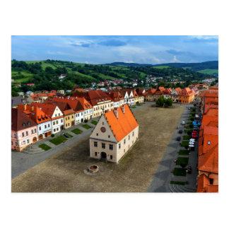 Bardejov、スロバキアの古い町の広場 ポストカード