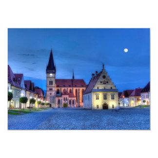 Bardejov、スロバキア、HDRの古い町の広場 カード