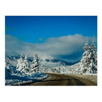 Barilocheのスキー場への道 ポストカード