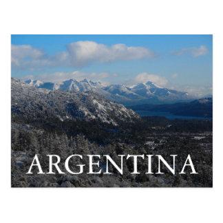 Barilocheのリオ黒人、アルゼンチン ポストカード