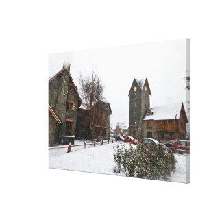 Barilocheの都心、パタゴニアアルゼンチン キャンバスプリント