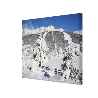 BarilocheのCatedralのスキー場の眺め キャンバスプリント