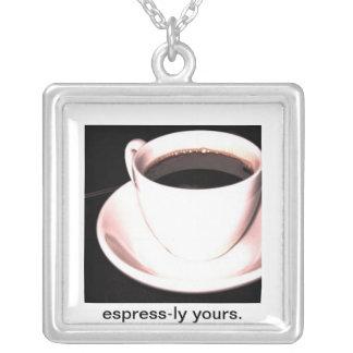 BaristaのコーヒーネックレスのジュエリーEspresss lyあなたの シルバープレートネックレス