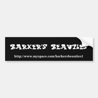 Barkerの美しいのバンパーステッカー バンパーステッカー