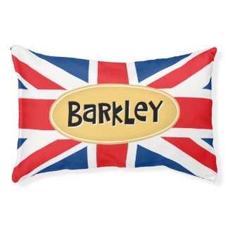 Barkley名前入りなイギリス スモールドッグベッド
