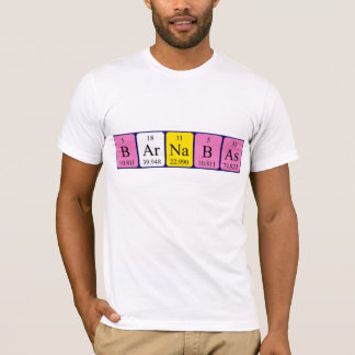 Barnabasの周期表の名前のワイシャツ Tシャツ