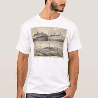 Barnegatの入口の汽船Amerique Tシャツ