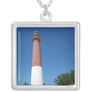 Barnegatの灯台古い口論 シルバープレートネックレス