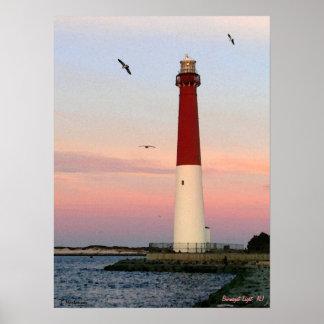 Barnegatライト、ロングビーチの島、NJポスター ポスター