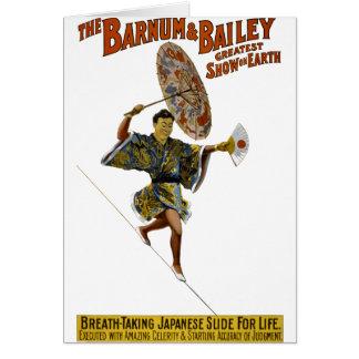 Barnumおよびベイリー: 日本のな綱渡りの歩行者 カード