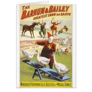 Barnum及びベイリーのサーカス カード