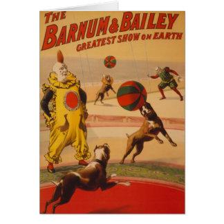 Barnum及びベイリー-すばらしいフットボール犬 カード