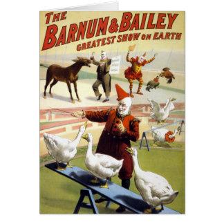 Barnum及びベイリー-すばらしい実行ガチョウ カード