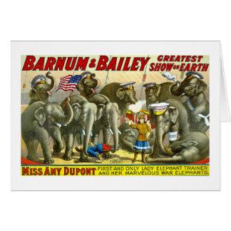 Barnum及びベイリー-象 カード