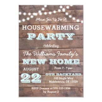 Barnwoodは水の引っ越し祝いパーティーの招待状をつけます カード