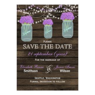 Barnwood 石大工 瓶 紫色 花 救って下さい 日付 自分だけの招待状