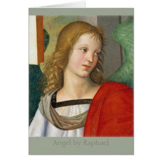 Baronciの祭壇の背後の飾りCC0841からのRaphaelの天使 カード