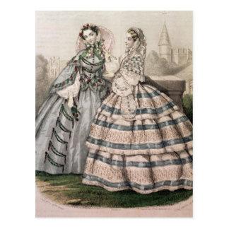 Barreau著刻まれる1858年の日の服 ポストカード